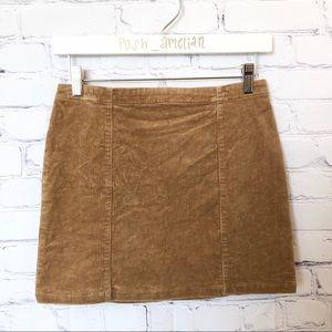 Forever 21 tan corduroy mini skirt
